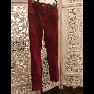 Ann Taylor Loft Corduroy Straight leg jeans; 28/6